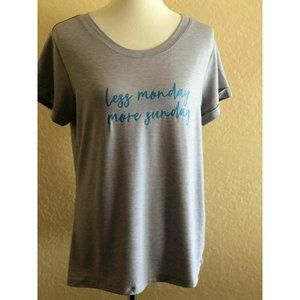 Natural Reflections  Gray Less Monday Sleep Shirt